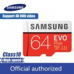 100% Оригинал SAMSUNG Micro SD card 64 GB u3 карты памяти EVO Plus 64 GB Class10 TF карты C10 80...