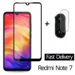 2-в-1 Камера стекло на redmi note 7 закаленное стекло на редми ноут 7 Glass Redmi Note 7 Стекло сяоми редми ноут 7 про Camera Glass Film