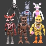 Аниме 6 шт./партия ПВХ Five Nights At Freddy's экшн-фигурка FNAF Bonnie Foxy медведь...