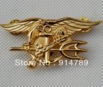 US NAVY SEAL EAGLE ANCHOR TRIDENT METAL металлический значок ВМС США золото-32442