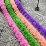 1Yard 12 colors Flower 3D Chiffon Lace Trim Ribbon Fabric for Applique Sewing Wedding Dress Decoration Accessories...