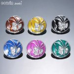 New Arrivals 18mm snap button Jewelry Rhinestone Glazed Butterfly snap button KZ0031