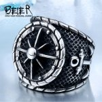 Cool Big Anchor Ring For Man Stainless Rock Punk Rings Men Titanium Steel Unique Biker Fashion Jewelry BR8-341