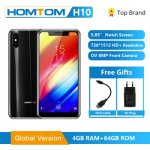 Глобальная версия HOMTOM H10 Android 8,1 мобильный телефон Octa Core 4 GB 64 GB 3500 mAh...