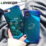 LOVECOM Вселенная планета чехол для iPhone XS XR XS Max X 8 7 6 6 S плюс Ретро Blu-Ray...